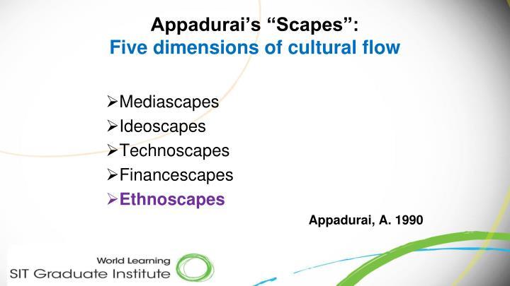 "Appadurai's ""Scapes"":"