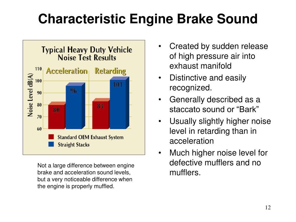 PPT - On Engine Brake Noise PowerPoint Presentation - ID:144682