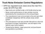 truck noise emission control regulations