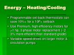 energy heating cooling