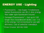 energy use lighting