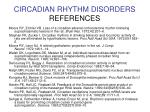 circadian rhythm disorders references