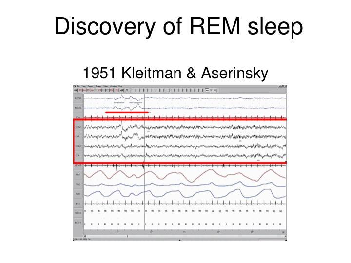 Discovery of REM sleep