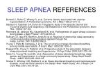 sleep apnea references