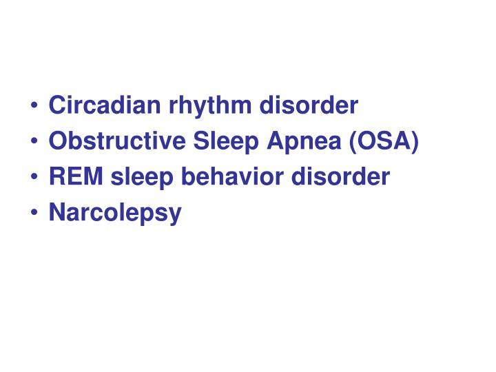 Circadian rhythm disorder