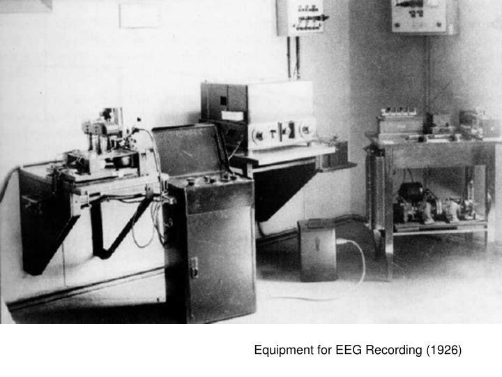 Equipment for EEG Recording (1926)