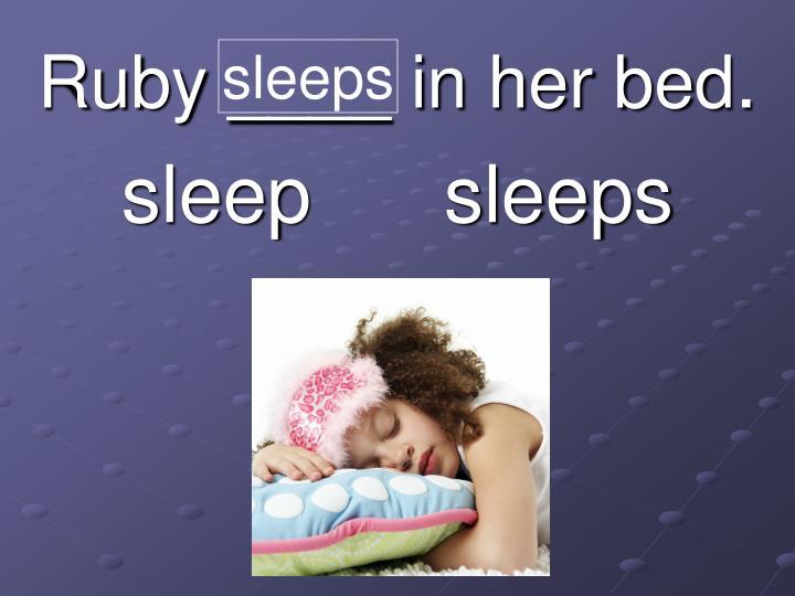 sleeps