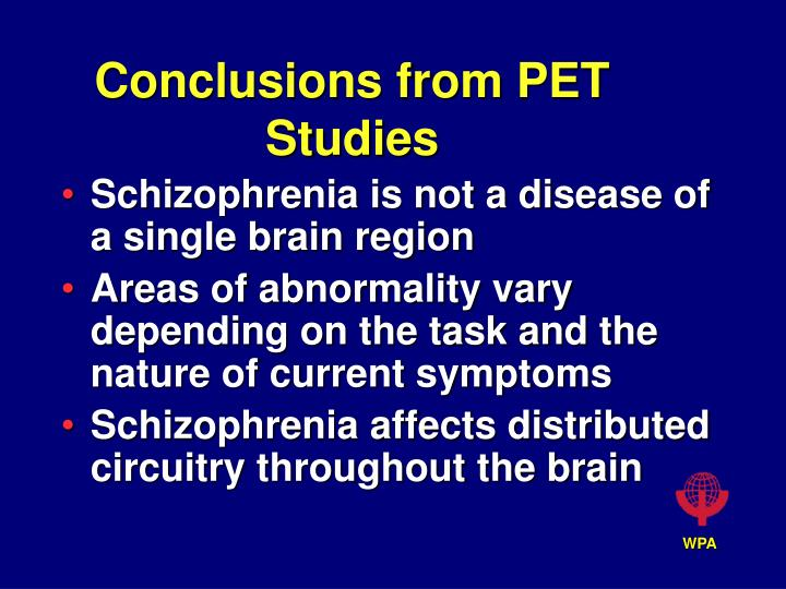 conclusions from pet studies n.