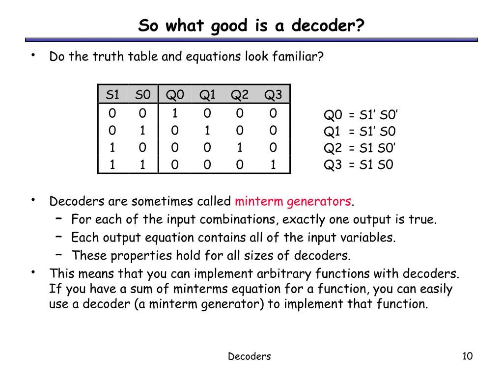 So what good is a decoder?