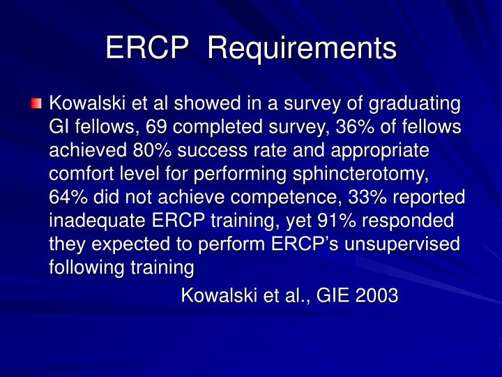 ERCP  Requirements