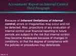 accountants report on internal control third paragraph
