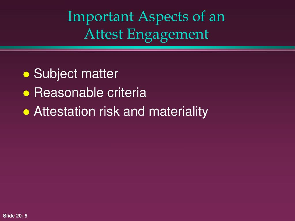 Important Aspects of an