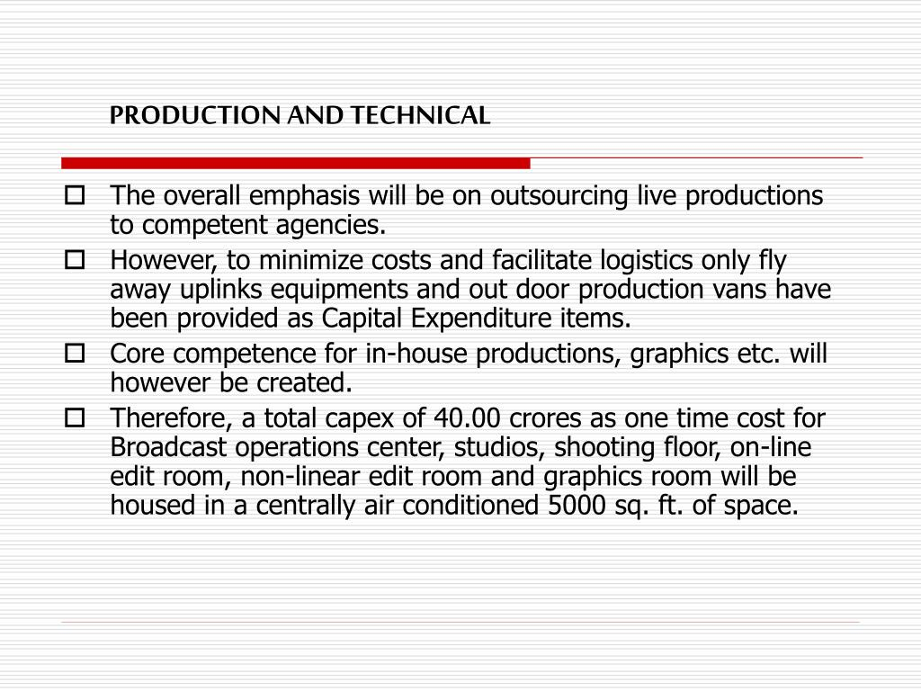 PRODUCTION AND TECHNICAL
