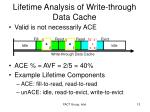 lifetime analysis of write through data cache