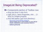 imagelist being deprecated