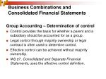 business combinations and consolidated financial statements1