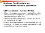 business combinations and consolidated financial statements3