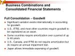 business combinations and consolidated financial statements4