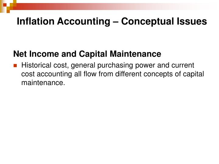 Inflation Accounting – Conceptual Issues