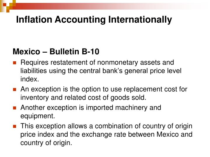 Inflation Accounting Internationally