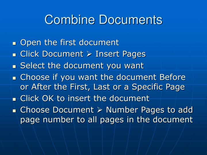 combine pdf and word document