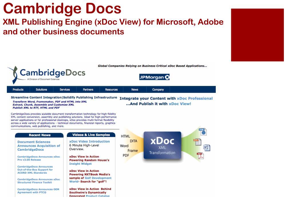 Cambridge Docs