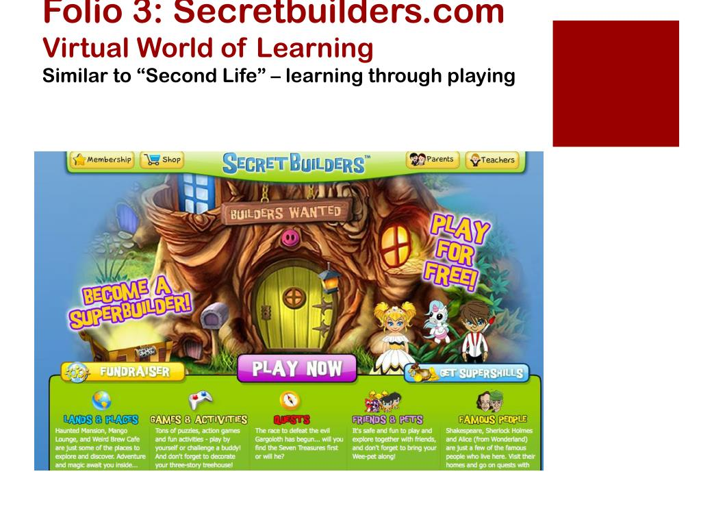 Folio 3: Secretbuilders.com