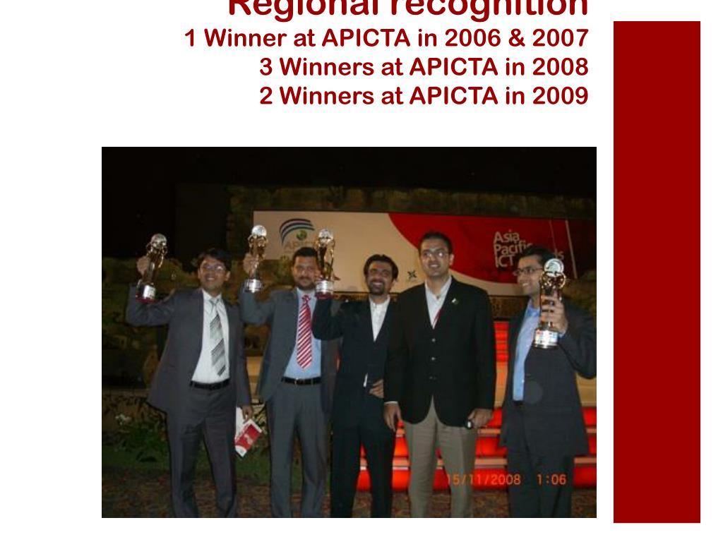 Regional recognition
