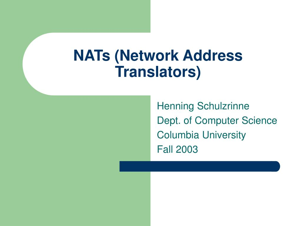 nats network address translators l.