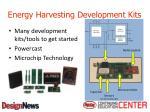 energy harvesting development kits