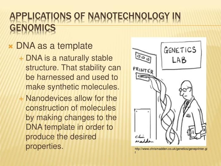 DNA as a template