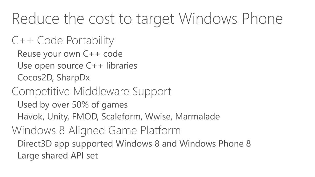 PPT - Windows Phone 8 Native C/C++ Game Development