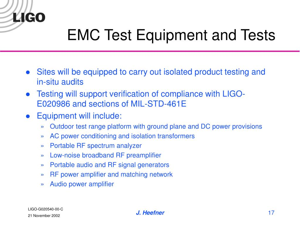 EMC Test Equipment and Tests