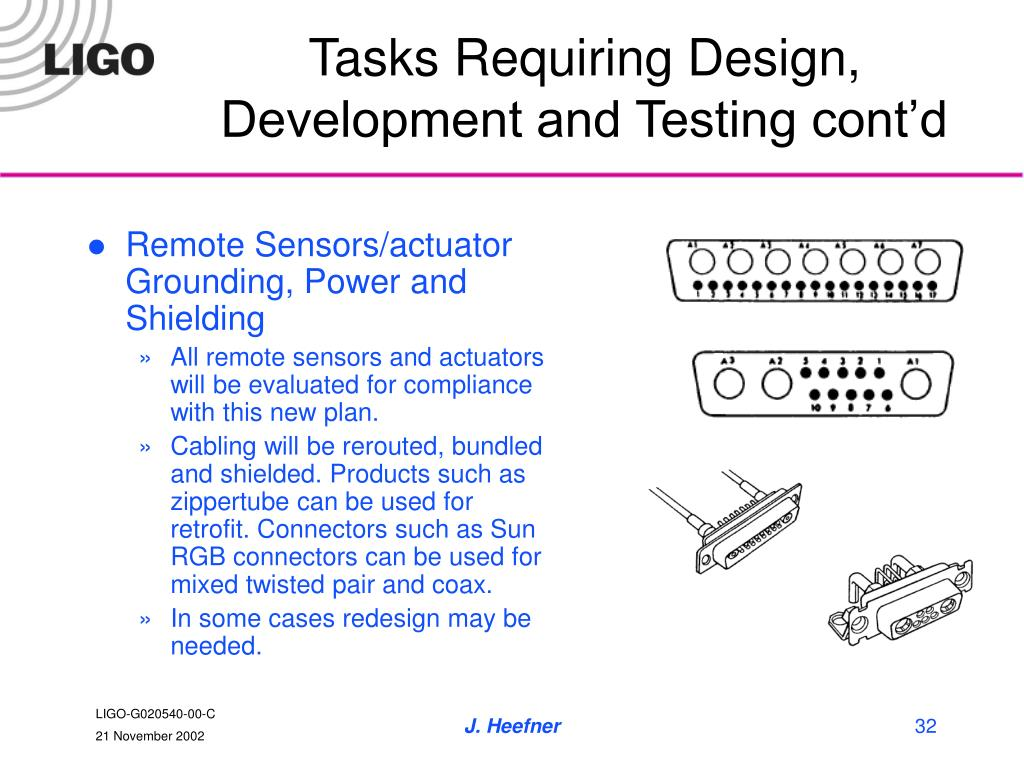 Tasks Requiring Design, Development and Testing cont'd