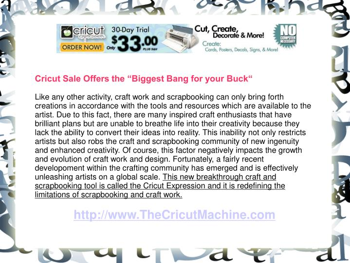 """Cricut Sale Offers the """"Biggest Bang for your Buck"""""""