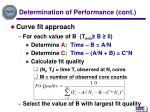 determination of performance cont16
