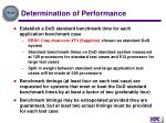 determination of performance