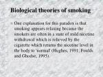 biological theories of smoking6