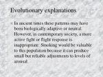evolutionary explanations20