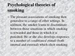 psychological theories of smoking23
