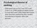 psychological theories of smoking27