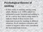 psychological theories of smoking28
