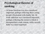 psychological theories of smoking29