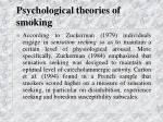 psychological theories of smoking30