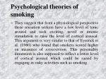psychological theories of smoking31