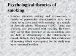 psychological theories of smoking32