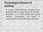 psychological theories of smoking33