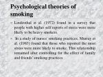 psychological theories of smoking34