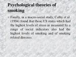 psychological theories of smoking35