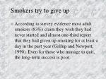 smokers try to give up